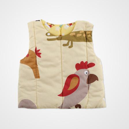 婴儿背心纯棉马甲 动物世界