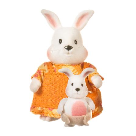白兔妈妈和孩子
