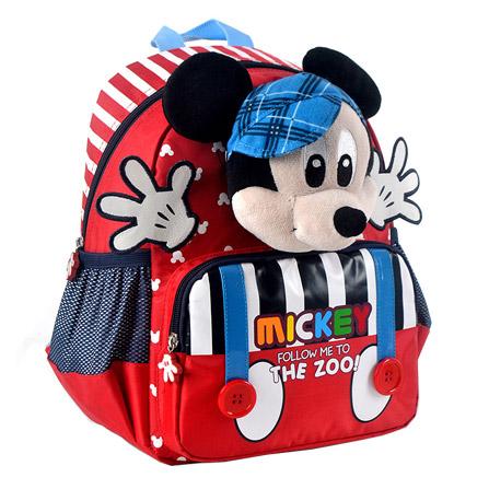 迪士尼户外运动儿童书包幼儿园卡通小班米奇双肩背