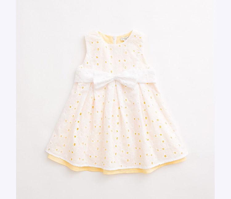 女宝宝婴儿镂空纯棉公主裙子15350 白