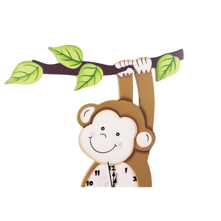阳光动物园儿童可爱猴子壁挂时钟