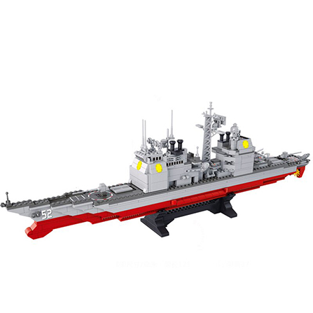 航空母舰拼装积木核潜艇模型儿童益智玩具 巡洋舰