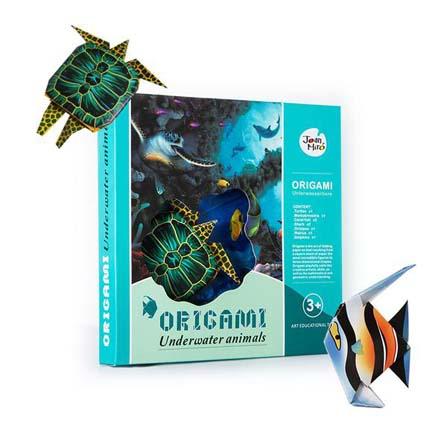 儿童diy情景折纸-海底世界