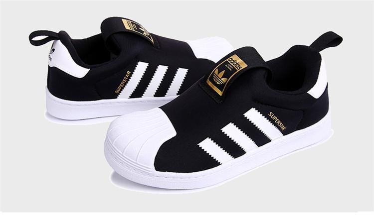 阿迪达斯 adidas 儿童休闲运动鞋男童黑色贝壳鞋【  %