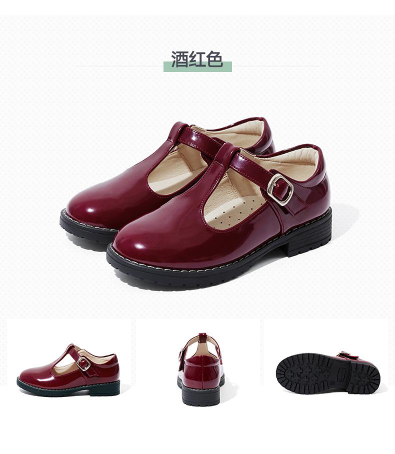 女童皮鞋 真皮公主鞋 春秋款儿童韩版童鞋小女孩宝宝单鞋