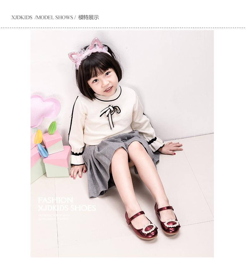 女童鞋儿童公主鞋女孩韩版皮鞋浅口宝宝单鞋2017春秋季新款