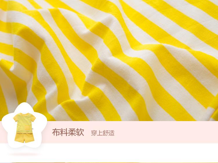 婴儿夏装 可爱宝宝短袖套装 婴幼儿纯棉衣服