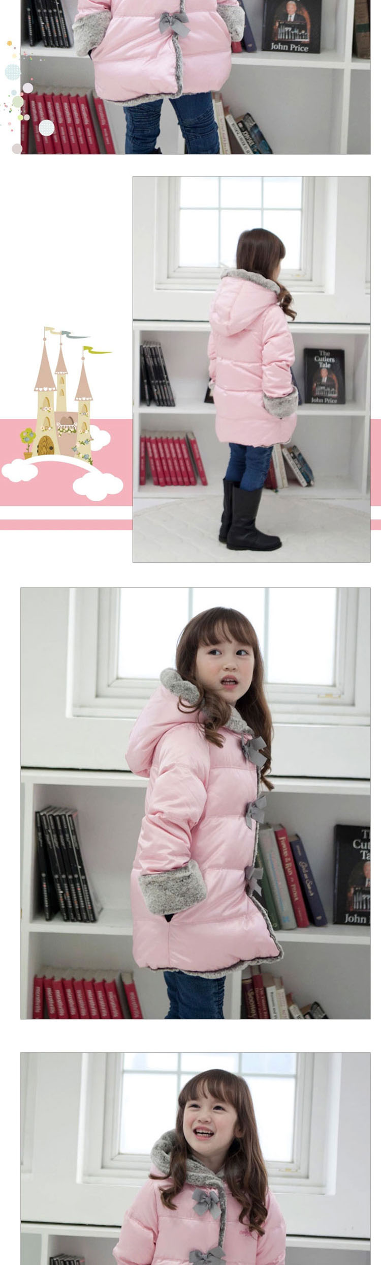 【正品韩国儿童羽绒服女童公主淑女韩版中长款羽绒服