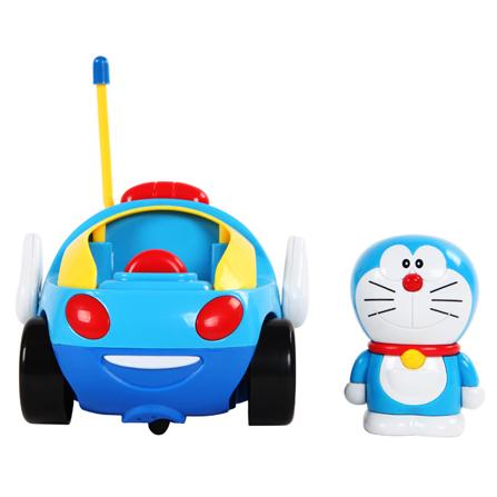 超可爱卡通哆啦a梦造型遥控玩具车 带炫彩灯光和炫酷