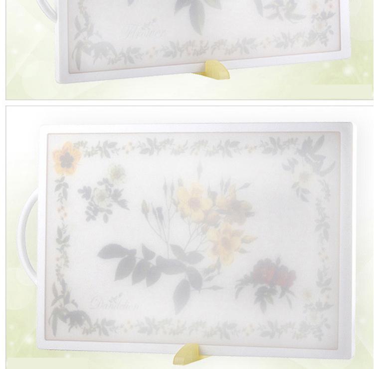 纳米银抗菌菜板山茶花 (长方形)