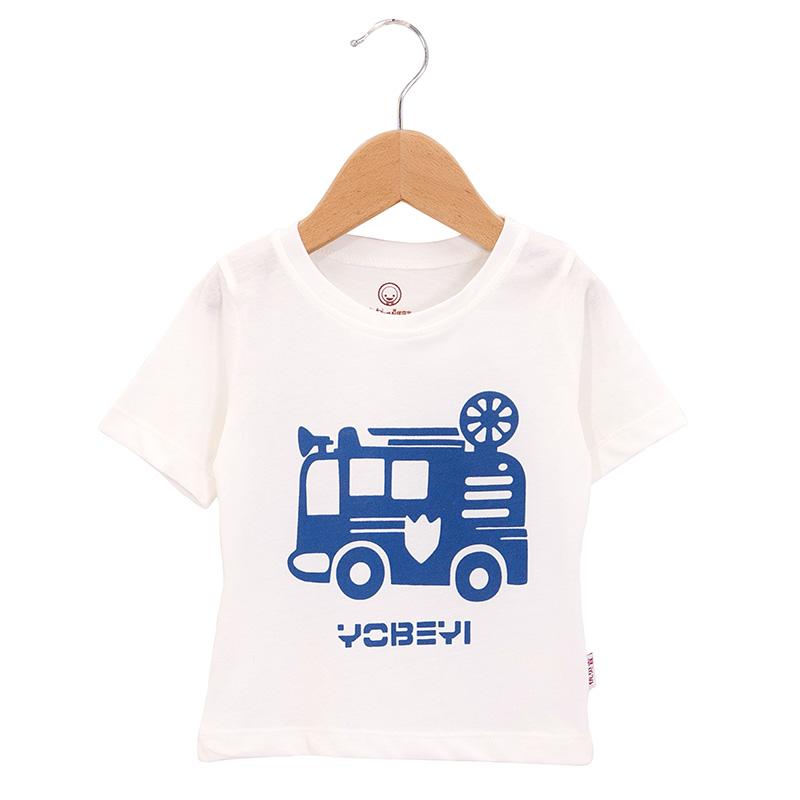 儿童圆领短袖t恤纯棉99004 大车图片