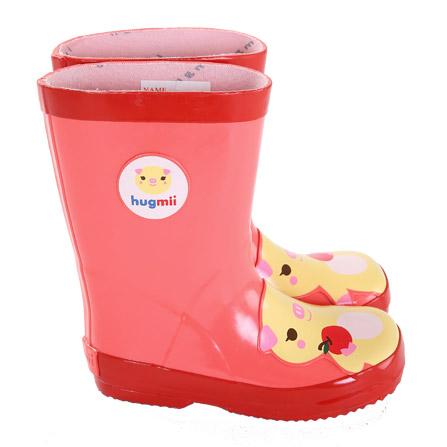 儿童雨鞋动物橡胶宝宝学生雨靴 小猪