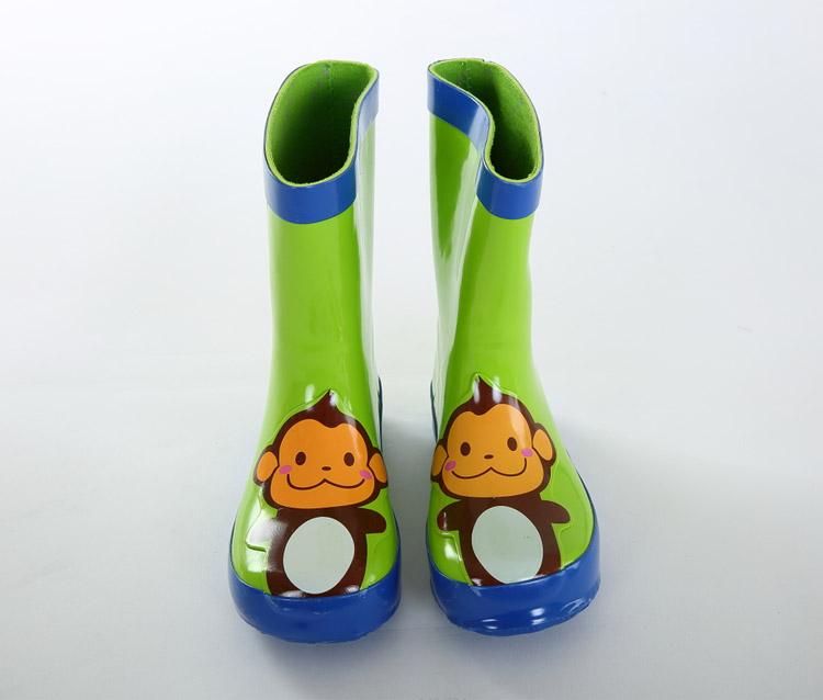 儿童雨鞋动物橡胶宝宝学生雨靴 猴子