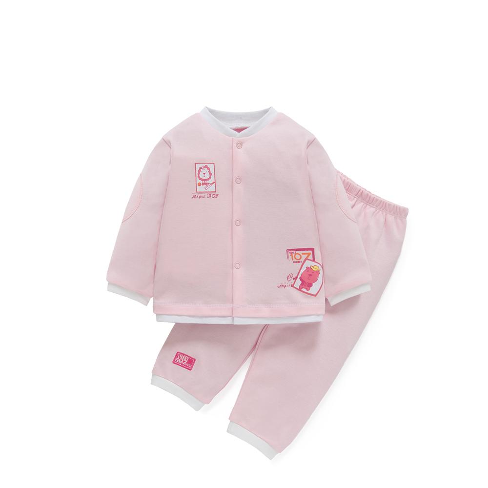 男女宝宝秋季套装婴儿衣服 粉红