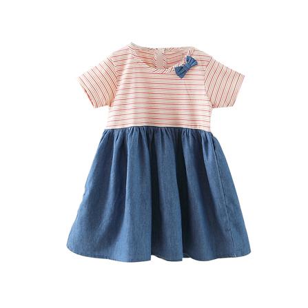 eyanbaby 怡妍宝贝 2015夏季新款可爱女童体恤牛仔 桔