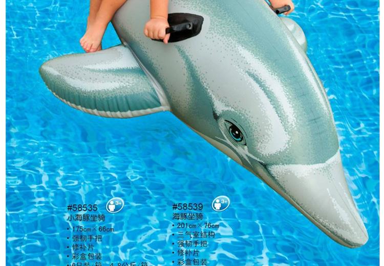 大海豚坐骑儿童水上坐骑充气玩具