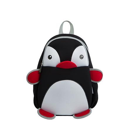 幼儿园包包书包 3d卡通小企鹅 黑图片