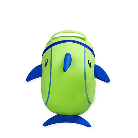 nohoo 诺狐 可爱卡通小海豚3d幼儿园儿童书包 儿童双肩背包 绿