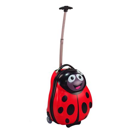 儿童可爱动物旅行箱 红