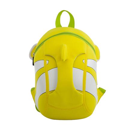 幼儿园儿童书包小丑鱼可爱3d韩版潮包 动感黄