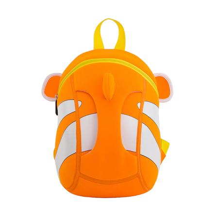 幼儿园儿童书包小丑鱼可爱3d韩版潮包 活力橙