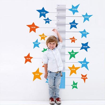 supersatr儿童测量身高墙贴